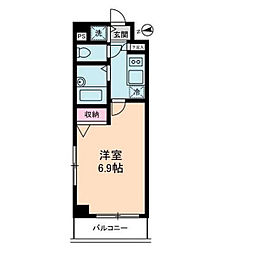 ジェネラルアパートメント常盤台[4階]の間取り