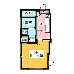 北区豊島1丁目新築仮称 2階1Kの間取り