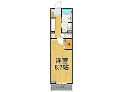 兵庫県西宮市大島町の賃貸アパートの間取り