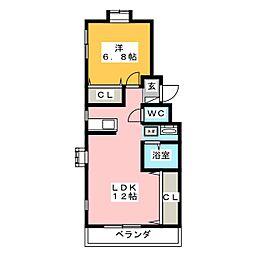 ヴィクトリアコート[2階]の間取り