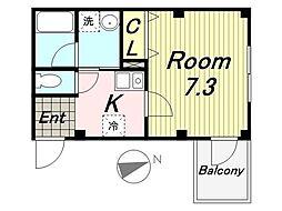 パルコAmagasaki[103号室]の間取り