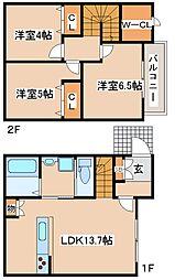 [テラスハウス] 兵庫県神戸市東灘区本山北町5丁目 の賃貸【/】の間取り