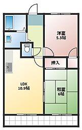 コスモII[8階]の間取り