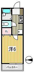 バーミンハイム[1階]の間取り