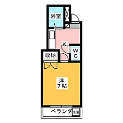 グリーンPAL鹿田[1階]の間取り