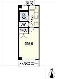 安田学研会館 中棟2[1階]の間取り
