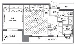 カテリーナ三田タワースイート ウエストアーク[14階]の間取り