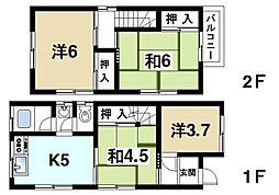 [一戸建] 奈良県生駒市壱分町 の賃貸【/】の間取り