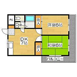 カンファランスサクラギ[3階]の間取り