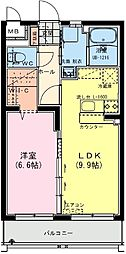 (仮称)日南・星倉マンション 2階1LDKの間取り