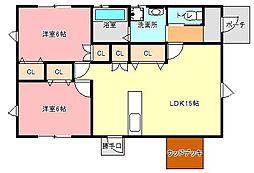 [一戸建] 静岡県浜松市東区西ケ崎町 の賃貸【/】の間取り