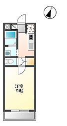 静岡県静岡市葵区古庄4丁目の賃貸マンションの間取り