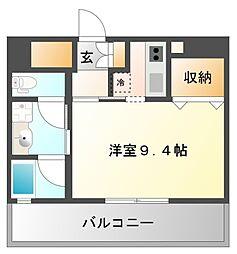 ハーヴェスタ江坂[7階]の間取り