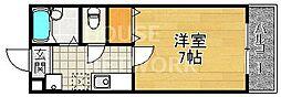 モンエスパシオ松ヶ崎[205号室号室]の間取り