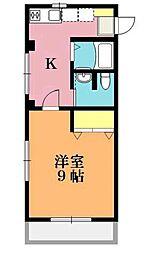 第二ふじみハイツ B棟[2階]の間取り
