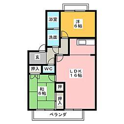オーシャン91[2階]の間取り