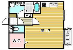 大阪府高槻市神内2丁目の賃貸アパートの間取り
