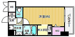 ラルーチェ北梅田[4階]の間取り