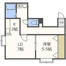 FOREST栄通A[3階]の間取り