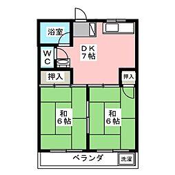 第二八名荘[2階]の間取り