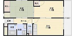 マンションパール[3階]の間取り