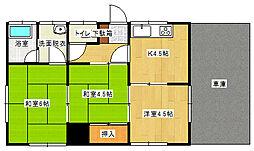 [一戸建] 愛媛県新居浜市新田町2丁目 の賃貸【/】の間取り