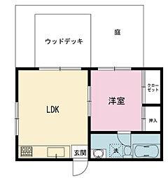 モリカワアパート[1階]の間取り