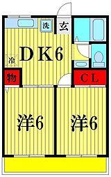 シティハイム K[2階]の間取り