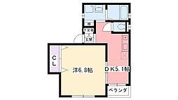 兵庫県西宮市久出ヶ谷町の賃貸アパートの間取り