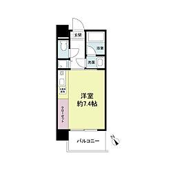 アーデンタワー神戸元町[0808号室]の間取り