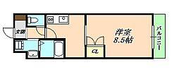 プラセール小束山[4階]の間取り