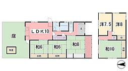 [一戸建] 兵庫県姫路市野里 の賃貸【兵庫県 / 姫路市】の間取り