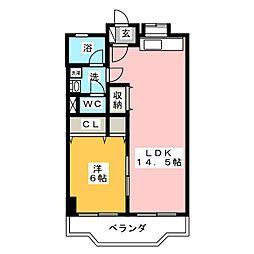 栄ハイツ[1階]の間取り