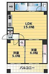 メゾンフレール[4階]の間取り
