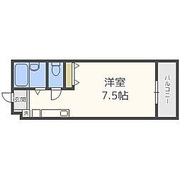 パンルネックスクリスタル大濠III[5階]の間取り