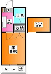 タナカハイツ[2階]の間取り