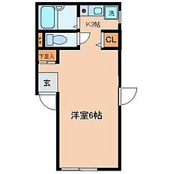 東京都練馬区富士見台2の賃貸アパートの間取り