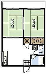 西内アパート[101号室]の間取り