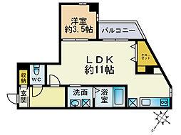 ジェンティーレ美野島2[2階]の間取り