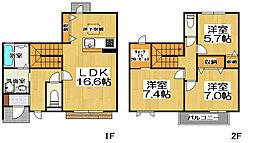 [テラスハウス] 大阪府堺市堺区向陵西町2丁 の賃貸【/】の間取り