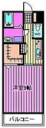 埼玉県戸田市新曽の賃貸アパートの間取り