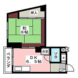 モリダイヤハイツ栄 402[4階]の間取り