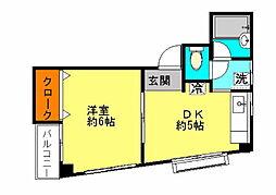 フォルテ石井[4階]の間取り