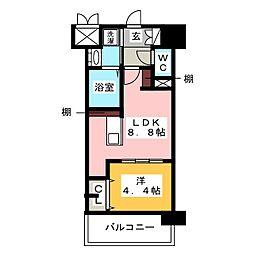 レトワール清水[2階]の間取り