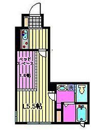 東京都北区赤羽西2丁目の賃貸マンションの間取り