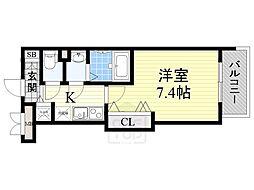 ラグゼ江坂2[902号室]の間取り
