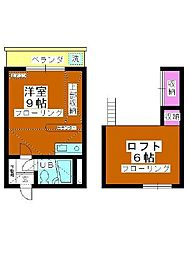 B・S HOUSE[105号室]の間取り
