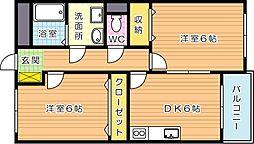 グリーンビルナカムラ本城II[1階]の間取り