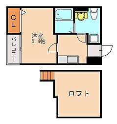 Symphony梅光園(シンフォニー)[2階]の間取り