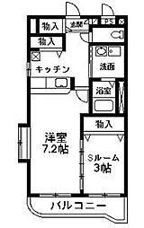 NNMマンションB[205号室]の間取り